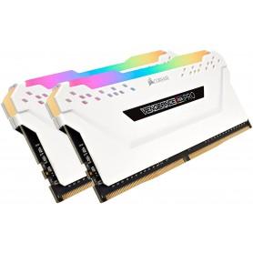 MEMORIA DDR4 32GB (2X16GB) 2666MHZ VENGEANCE RGB WHITE GAMER