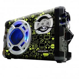 PARLANTE MULTIMEDIA PANACOM SP-3046 T46 CON BATERIA BLUETOOTH SD USB 20W GREEN