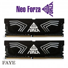 MEMORIA GAMER DDR4 KIT 8GB X2 3200MHZ NEO FORZA UDIMM SUPER RAPIDAS CON DISIPADOR