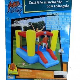 CASTILLO INFLABLE PELOTERO CON TOBOGAN + TURBINA RAPIDA 2,53mts x 2.00mts x 1,60mts