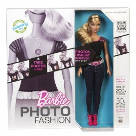BARBIE PHOTO FASHION SACA FOTOS Y APARECE EN SU REMERA ORIGINAL USB