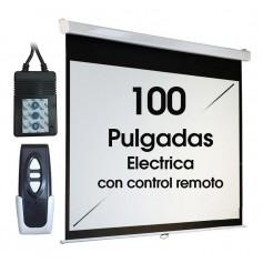 PANTALLA ELECTRICA DAZA 100 PULGADAS CON CONTROL REMOTO RETRACTIL PROYECTOR FSES120R