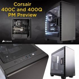 GABINETE PC GAMING CORSAIR CARBIDE 400C BLACK MID-TOWER S/FUENTE