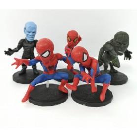 Figuras Spiderman X6 Personajes En Bolsa Coleccionable