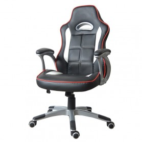 Silla Sillon Gamer Black And White Y-2603 Grande Acolchada Gaming Xbox Ps4 Pc