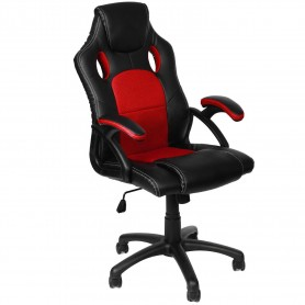 Silla Sillon Gamer Black And Red Y-2706 Con Reclinacion Gaming Xbox Ps4 Pc
