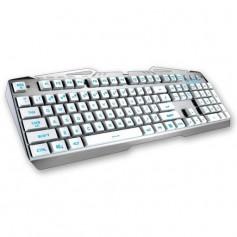 Teclado Gamer Retroiluminado Noga Sleek Blacklight Gaming Keyboard 7 Cambios De Color Teclas En Suspension Nkb-9500