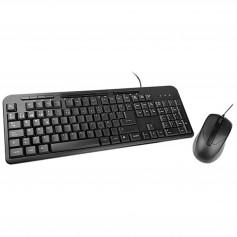 Combo Teclado Y Mouse Xtech Con Cable Usb Multimedia Xtk-301s