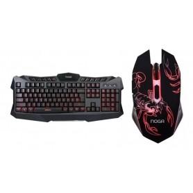 Combo Gamer Noga Teclado y Mouse Retroiluminado Gaming Kit Nkb-5320