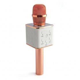 Microfono Karaoke Daza Con Parlante Bluetooth Inalambrico Recargable Grabacion Rose Dzq8RoseGd