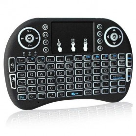 Mini Teclado Inalambrico Con Touch Daza Para Tv Retroiluminado Backlit Mini Keyboard With Touchpad
