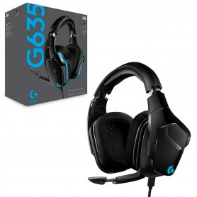 Auriculares Gamer Logitech G Series G635 Gaming Lightsync 7.1 Black