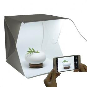 Caja De Luz 20x20cm Led Mini Estudio Fotografico Photobox