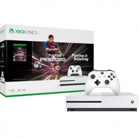 Consola Xbox One S 4k Microsoft 1TB + Joystick + Pro Evolution Soccer 2020 blanco (Cuotas)