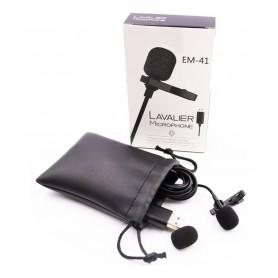 Microfono Corbatero Lavalier Para Pc Usb Reforzado Ideal Conferencias Zoom