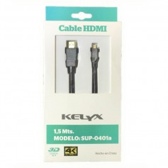 CABLE HDMI-MICRO HDMI KELYX SUP-0401A 1.5 MTS 3D 4K