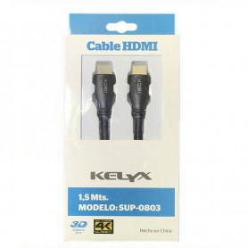 CABLE HDMI LED KELYX SUP-0803 1.5 MTS LED 3D 4K
