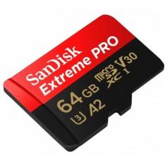 Micro Sd SanDisk Extreme Pro 64GB A2 U3 Tarjeta De Memoria SDSQXCY-064G-GN6MA