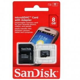 MEMORIA MICRO SD 8GB CLASS 4 SANDISK