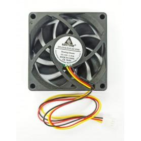 Cooler Turbina 70x70x15mm 12v 0.16 A 3 Pines Sleeve Bearing 2800rpm