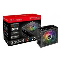 Fuente Pc Gamer Thermaltake 700w Smart Led Rgb 80 Plus White