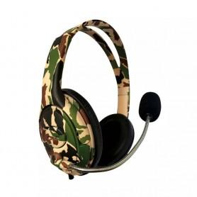 Auricular Gamer Netmak Battle Camuflado Con Microfono Unipin Para Ps4 Headset Gaming