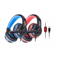Auricular Gamer Nisuta Pc Usb Vincha Con Microfono Nsaug91 Control De Volumen Headset Gaming