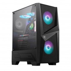Gabinete Gamer Msi Mag Forge 100R Vidrio Templado Lateral Usb 3.2 Incluye Cooler Front X2 Tras X1 Dimensiones 216X343X499Mm