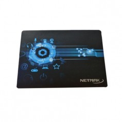 Mouse Pad Black Desing Pad Reforzado Netmak Nm-Pad 23x19Cm