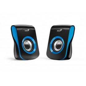Parlante Genius Usb Sp-Q180 Para Pc Tv 6w Azul 2.0 Multimedia Stereo Usb