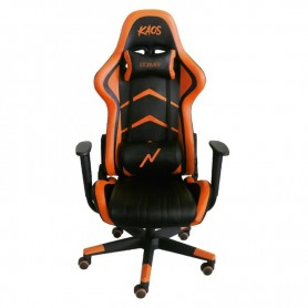 Sillon Gamer Kaos Reclinable Black And Orange Butaca Silla Pc Ps4 Noga Almohadon Silla Gaming