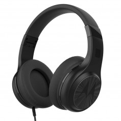 Auricular Vincha Motorola Pulse 120 Negro Con Microfono Over Ear Comfort Fit
