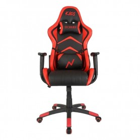 Sillon Gamer Kaos Reclinable Black And Red Butaca Silla Pc Ps4 Noga Almohadon Silla Gaming