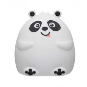Velador Led Panda Lampara Luz De Noche Rgb Colores Silicona Squishy Recargable Usb