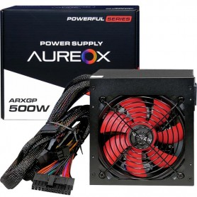 Fuente Aureox 500W Real Power 120Mm Red Arxgp-500W+12V 16A Ide 4 Pines 24 Pines 8 Pines Sata x4