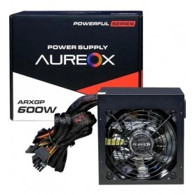 Fuente Aureox 600W Real Power 120Mm Red Arxgp-600W+12V 16A Ide 4 Pines 24 Pines 8 Pines Sata x4