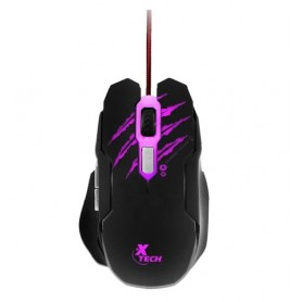 Mouse Gamer Xtech 3200Dpi Xtm-610 Optico Lethal Haze Iluminado 6 Botones Mouse Gaming