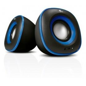 Parlante Xtech Pc Speakers 2.0 Blue 3.5Mm Speackers 6w Xts-115bk