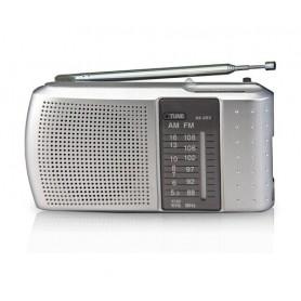 Radio Portatil Daza Analogica Parlante Auriculares Am y Fm a Pilas Dzkb223sil