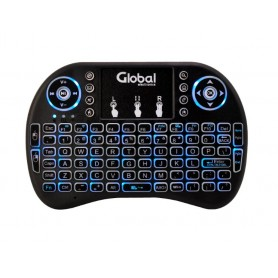 Teclado Inalambrico Retroiluminado Global Recargable Con Touchpad Ideal Para Tv