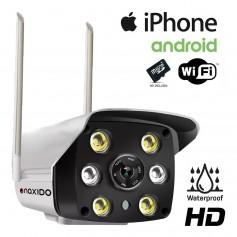 Camara Ip Naxido Seguridad Wifi Inalambrica Full Hd Exterior Alta Definición Visión Nocturna 1080P 2Mp