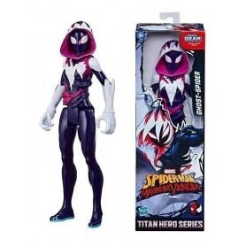 Figura Ghost-Spider Marvel 30Cm Original Titan Hero Series Hasbro