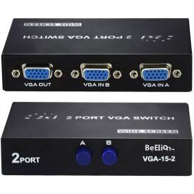 Switch Vga 2 Puertos Soporta Hasta 1920X1440 Vga Station Selector