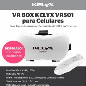 VR BOX LENTE REALIDAD VIRTUAL KELYX MODEL 501 C/CONTROL BLUETOOTH