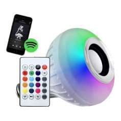 Foco Parlante Bluetooh Lampara Led Rgb Con Control Remoto Multimedia Speaker