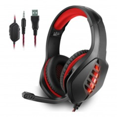 Auricular Gaming West Red Con Luz Led Ps4 Gh-p11