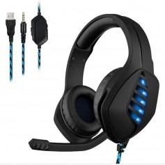 Auricular Gaming West Azul Con Luz Led Ps4 Gh-p10