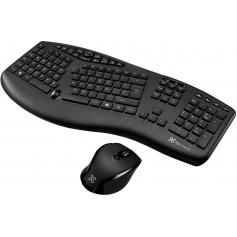 Combo Teclado Y Mouse Klipxtreme Kbk-500 Wireless Ergonomic Business Majestik