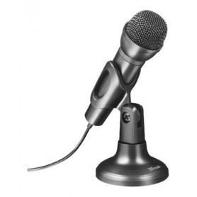 Microfono Pc Kolke Kpi-269 Con Pedestal Para Pc Escritorio Notebook Negro Con Cable