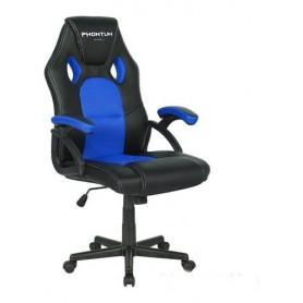 Silla Gamer Netmak Phontum Ergonomica Regulable Reclinable 15 Grados Sillon Gaming Azul 109X119X67X70CM